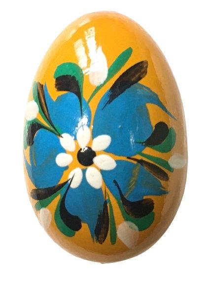Oeuf de Pâques en bois coloré (réf : oeuf-04)