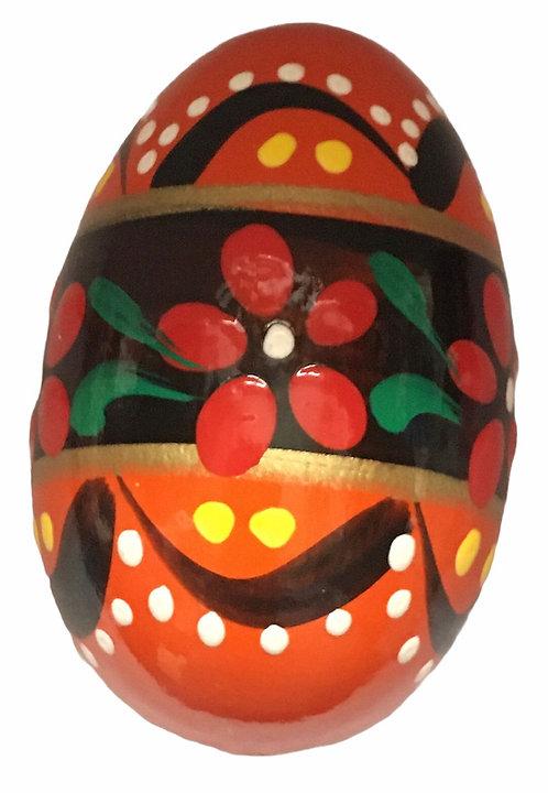 Oeuf de Pâques en bois coloré (réf : oeuf-01)