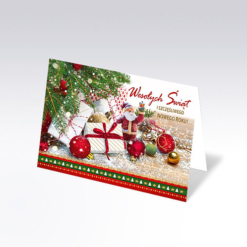 Carte postale de Noël avec pain azyme (Opłatek) - 6327