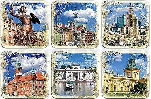 Dessous de verre - images de Gdansk