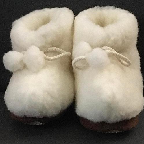 Chaussons enfant en laine véritable