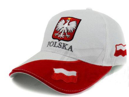"""Casquette avec visière et inscription """"POLSKA"""""""
