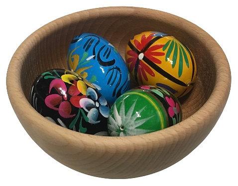 Oeufs de Pâques (pisanki) dans un bol (bol-1)