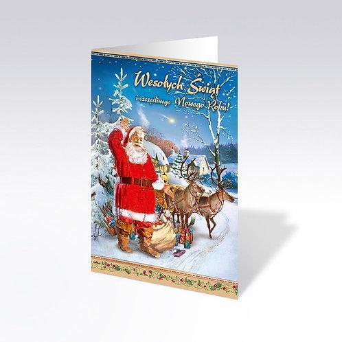 Carte postale de Noël (B6-BL 6567)