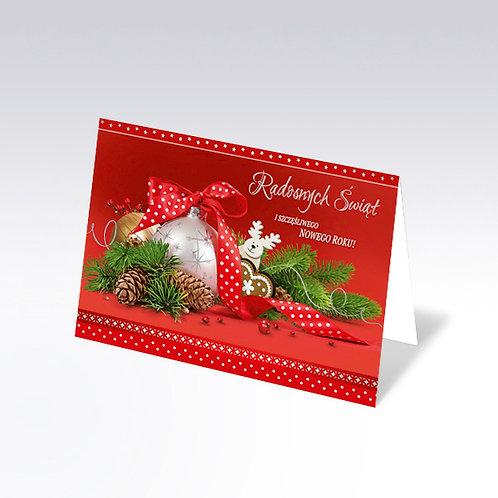 Carte postale de Noël avec pain azyme (Opłatek) - 6336