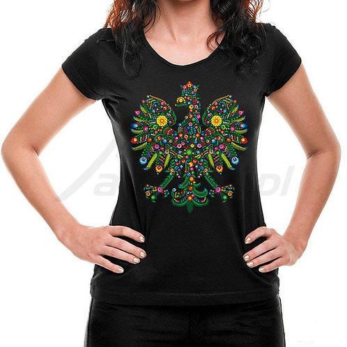 """T-shirts femme imprimés """"thème Lowicz sous forme d'aigle"""""""