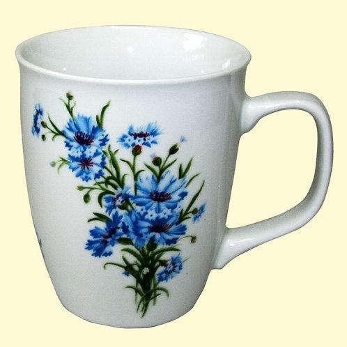 """Tasse à thé décorée """"Bleuets"""""""