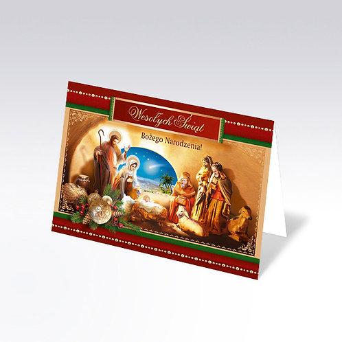 Carte postale de Noël avec pain azyme (Opłatek) - 6309