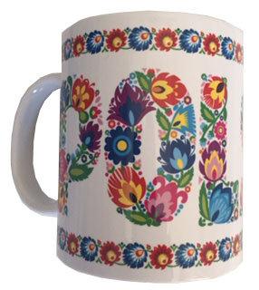 Mug polska fleurs de Lowicz
