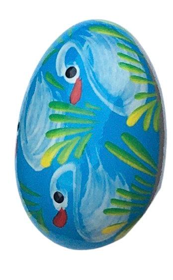 Oeuf de Pâques en bois coloré (réf : oeuf-03)