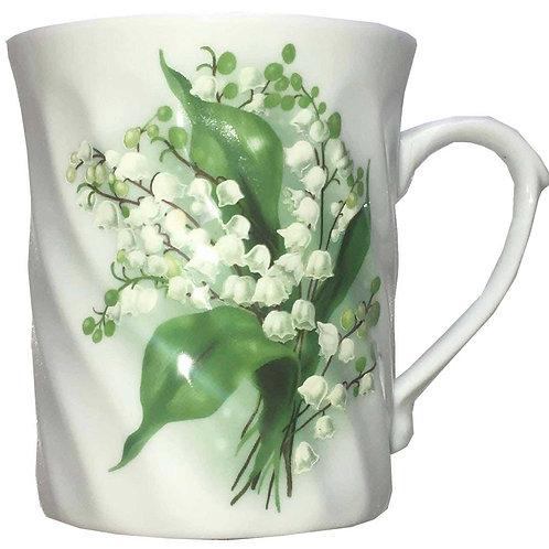 """Tasse à thé décorée """"muguet"""""""