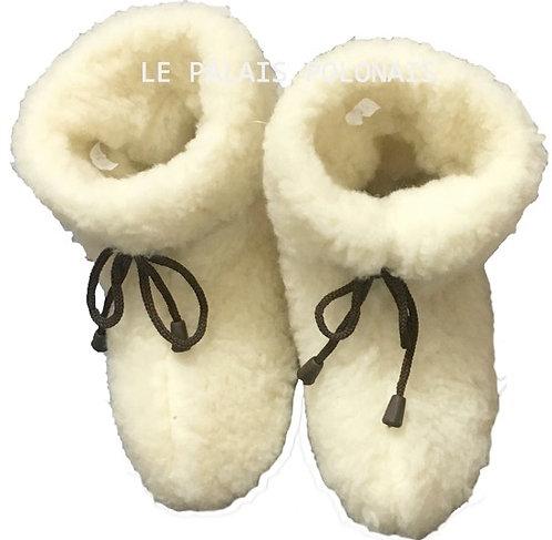 Chaussons  en laine véritable