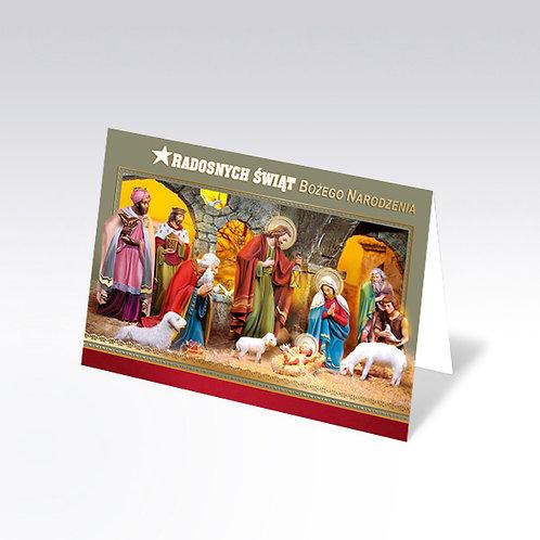 Carte postale de Noël avec pain azyme (Opłatek) - 6313
