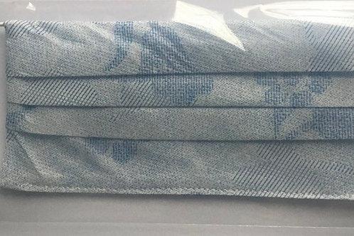 Masque lavable de couleur bleue 100% coton