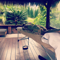 The massage cabana