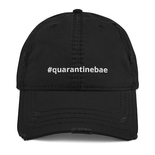 #quarantinebae CITY Distressed Dad Hat