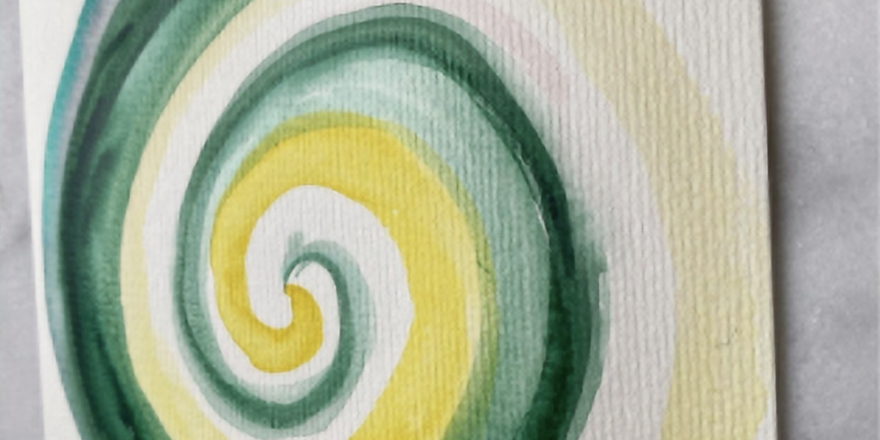 A Guided Watercolor Spiral Painting