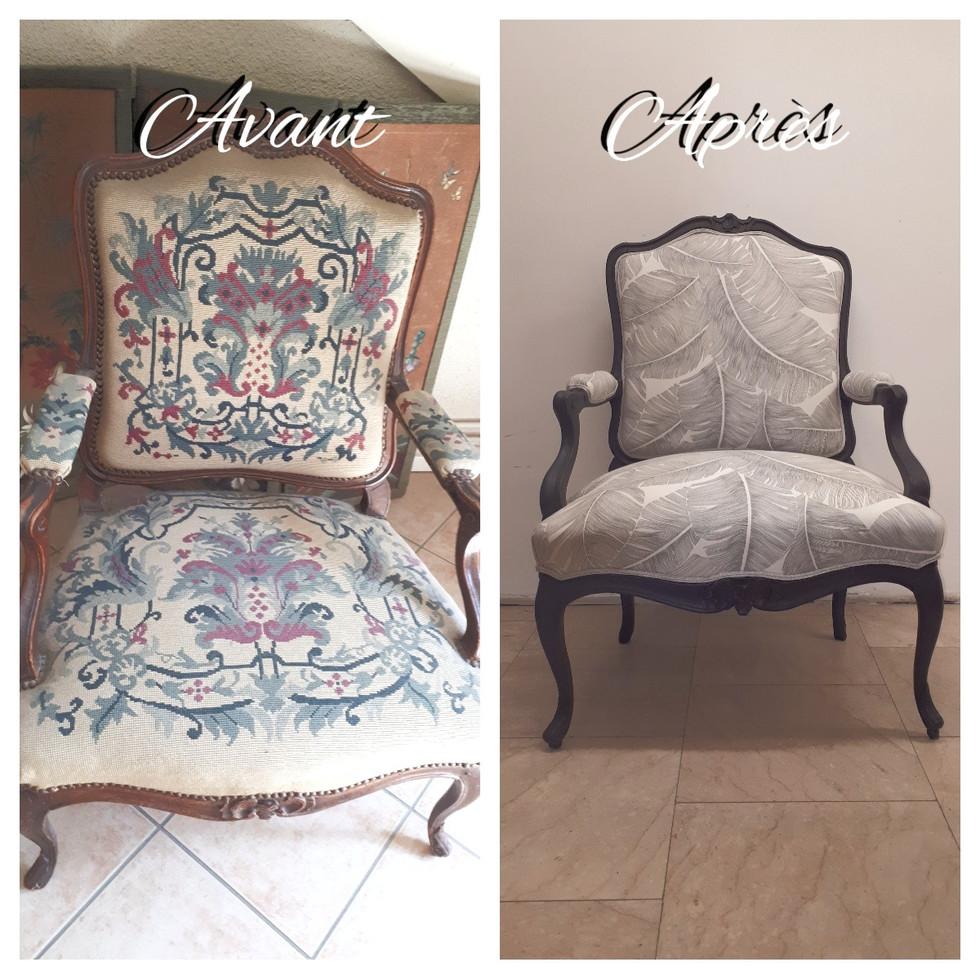 Avant-Après Fauteuil Louis XV