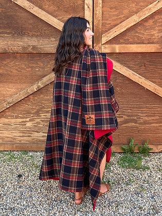 Plaid Rundle Wrap - Fleece Navidad