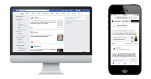 searching for hashtags on Facebook desktop and Facebook mobile