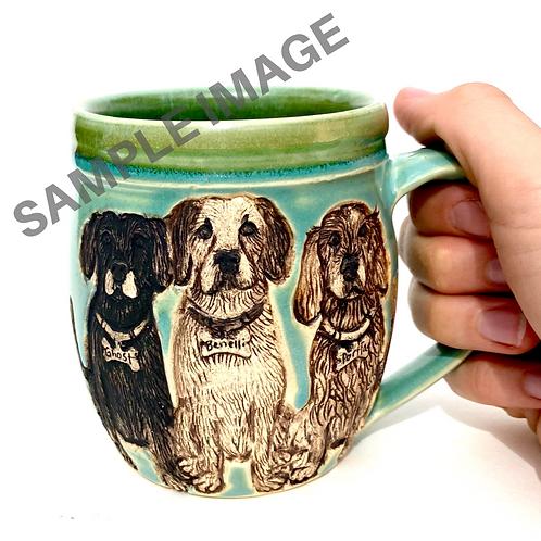 2Colleen RESERVED Custom Pet Portrait Mug