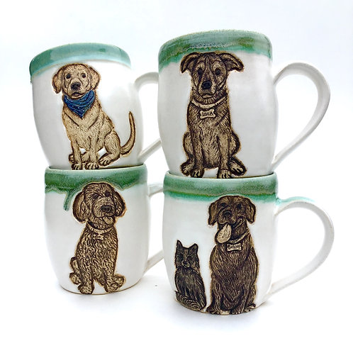 Susan P RESERVED Custom Pet Portrait Mug