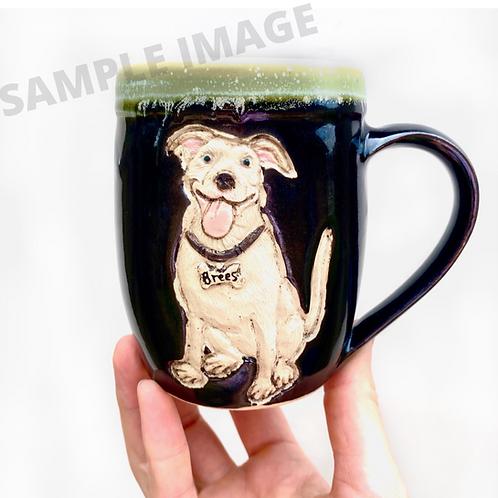 Susan B RESERVED Custom Pet Portrait Mug