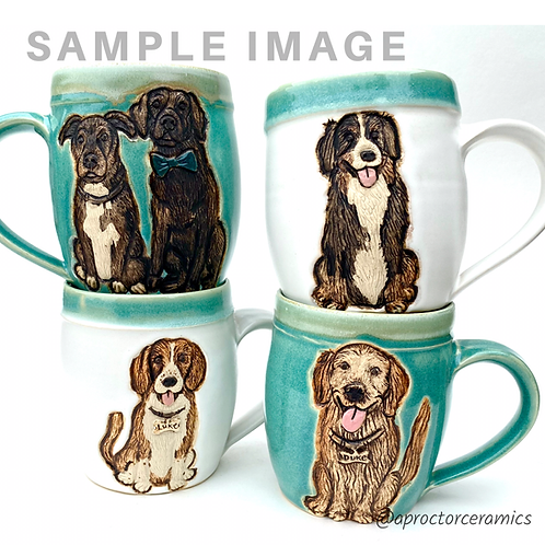Laura RESERVED Custom Pet Portrait Mug