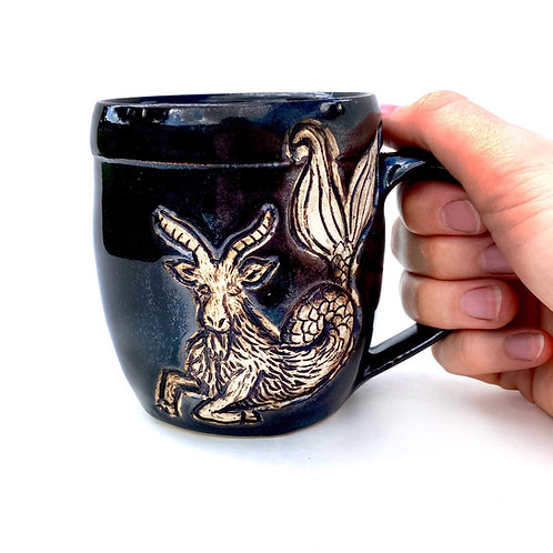 Capricorn  Zodiac Pottery Mug, Horoscope Ceramic cup, Astrology Sign