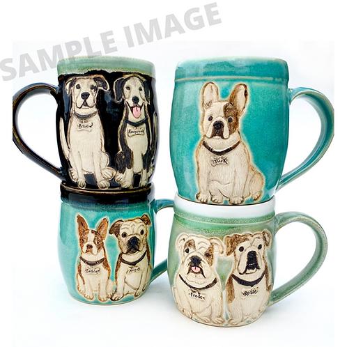 Jen RESERVED Custom Pet Portrait Mug