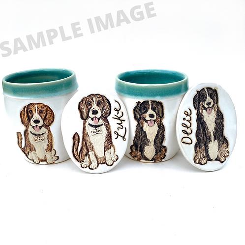 Colleen RESERVED Custom Pet Portrait Mug