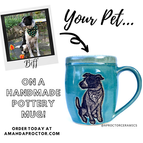 Order Yours Today! Custom Pet Portrait Pottery Mug