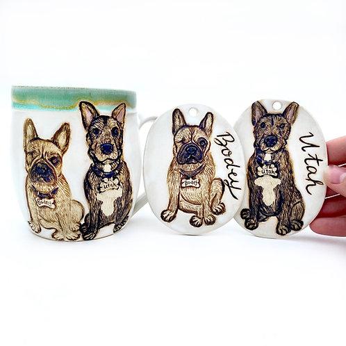 Jodi RESERVED Custom Pet Portrait Mug
