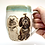 Thumbnail: Custom Pet Portrait, TWO PETS Pottery Mug, Personalized Gift