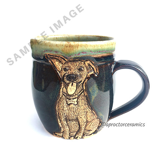 Lisa's RESERVED Custom Pet Portrait Mug