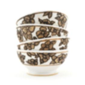 Large Flower Bowls, AProctor Ceramics
