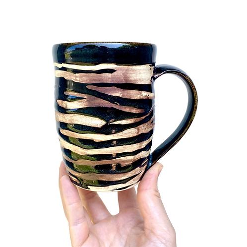 Tiger Stripe Mug, Slightly Taller