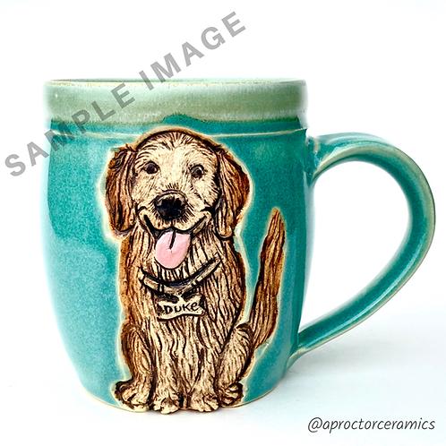 Yvette RESERVED Custom Pet Portrait Mug