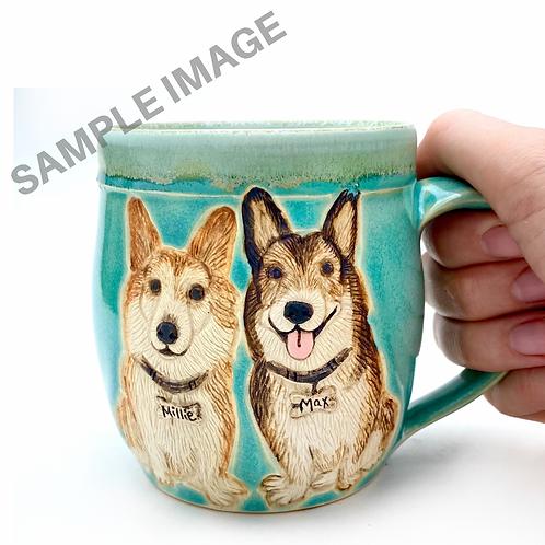 Chloe RESERVED Custom Pet Portrait Mug