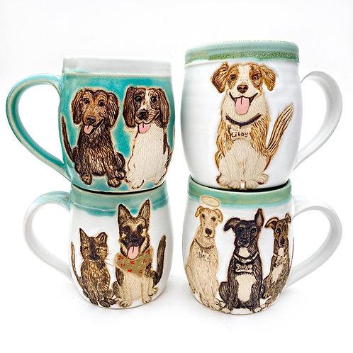 Dale RESERVED Custom Pet Portrait Mug