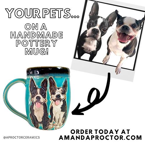 April K RESERVED Custom Pet Portrait Mug