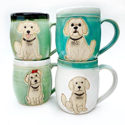Melissa L RESERVED Custom Pet Portrait Mug