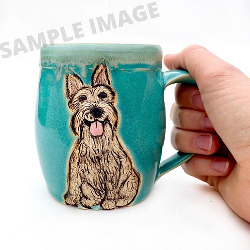 Stacy RESERVED Custom Pet Portrait Mug