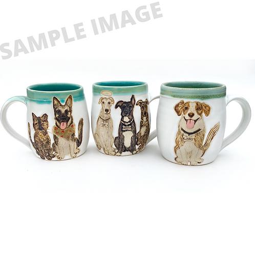 Katherine RESERVED Custom Pet Portrait Mug