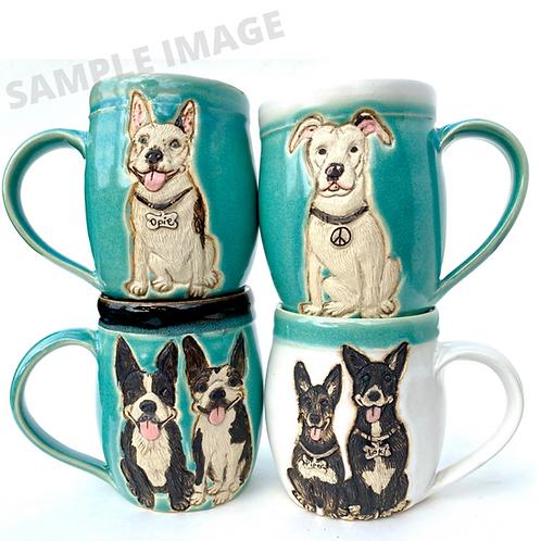 Machelle RESERVED Custom Pet Portrait Mug