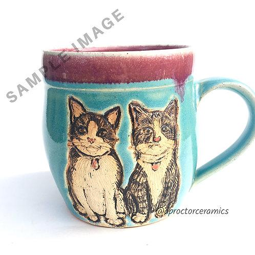 Brooke's RESERVED Pet Portrait Mug