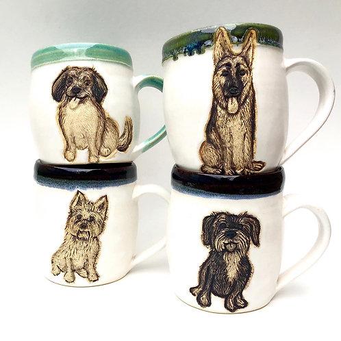 Bridget D RESERVED Custom Pet Portrait Mug