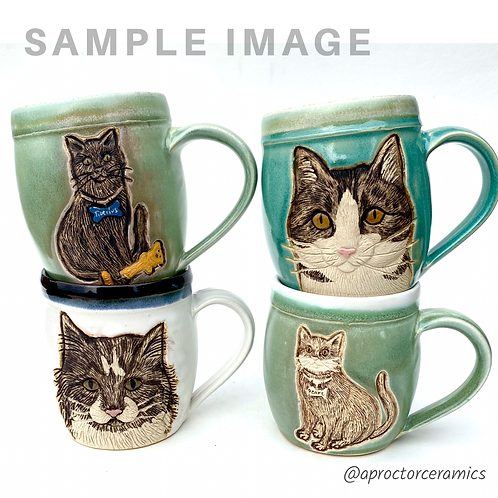 Laura RESERVED Custom Pet Portrait Mug
