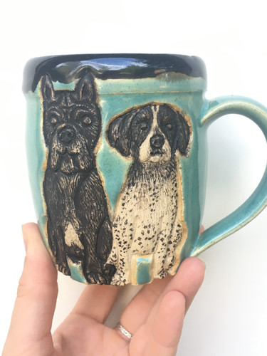 Two Pups Pet Portrait Mug