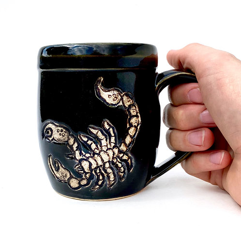 Scorpio Zodiac Pottery Mug, Horoscope Ceramic cup, Astrology Sign